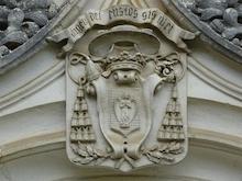 Visible en partie supérieure de l'une des portes du couvent - Prise de vue photographique du 29 juin 2021