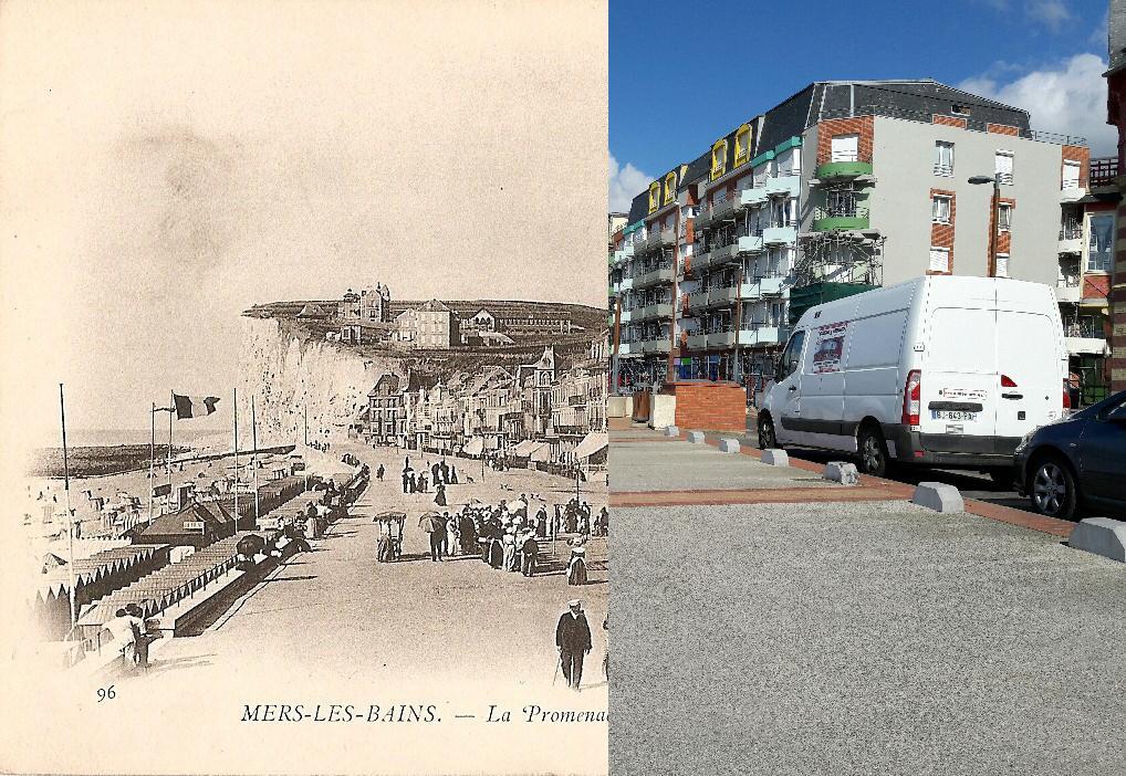 Mers-les-Bains - La promenade de la plage