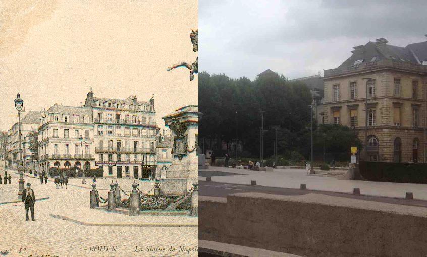 Rouen - Ville de Rouen - Statue de Napoléon 1er.